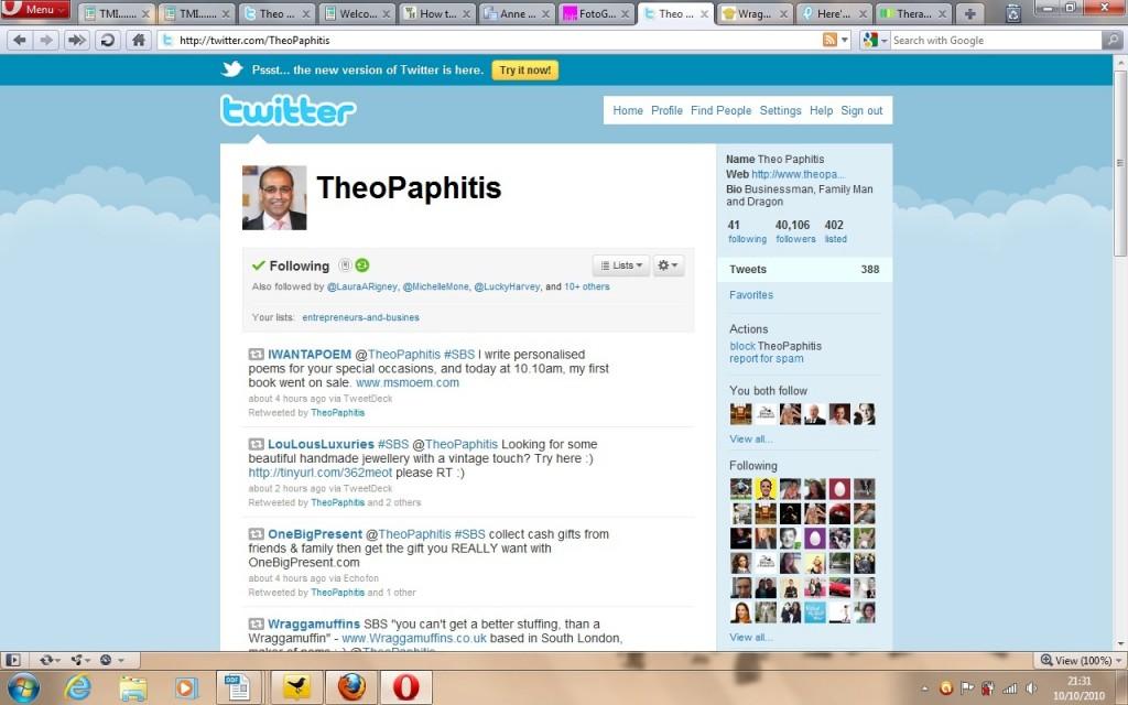 Theo Paphitis Retweets Ms Moem
