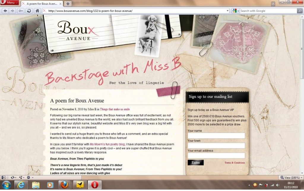 ms moem on Boux Avenue Blog
