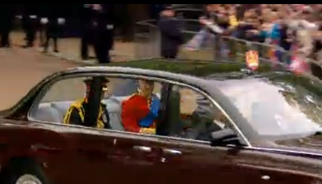 Prince William on the way to the royal wedding
