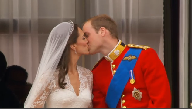royal wedding the kiss image