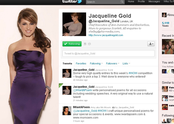 Jacqueline Gold Wow