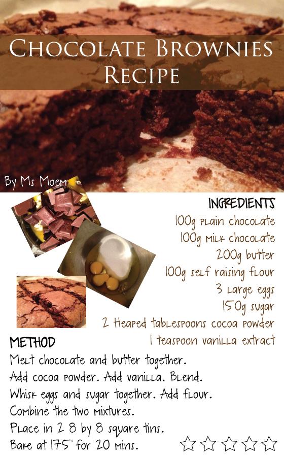 chocolate brownies recipe by ms moem