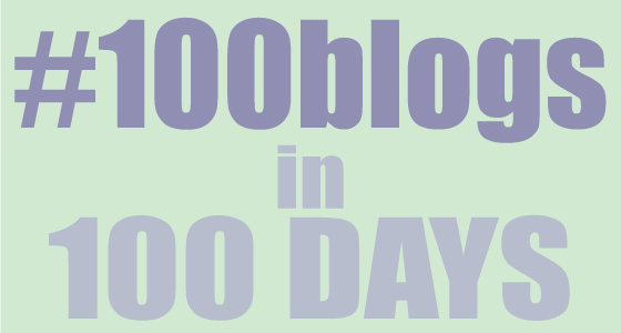 100 blogs in one hundred days