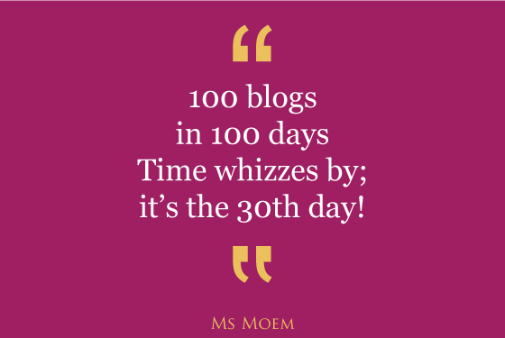 100 blogs in 100 days #100blogs Day 30