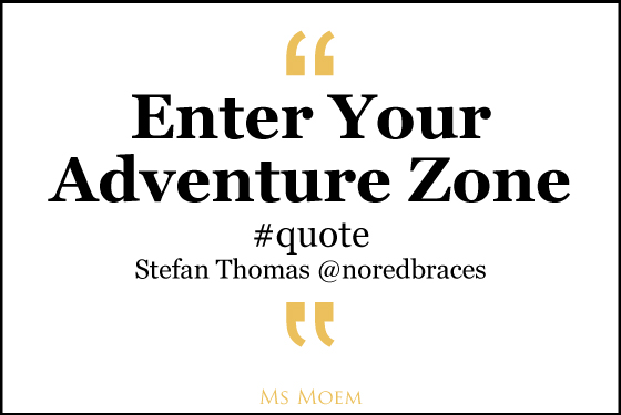 enter your adventure zone quote @noredbraces