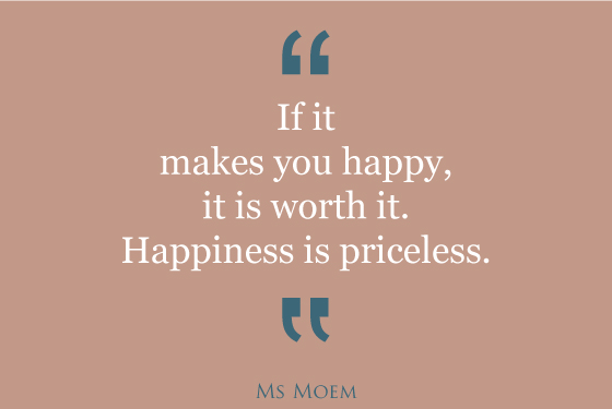 happiness is priceless motivational quote