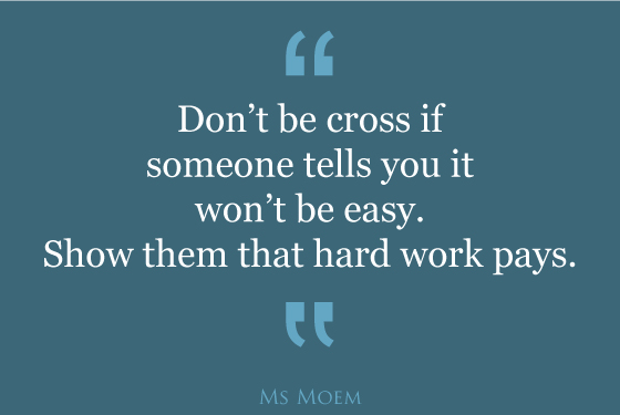 hard work pays motivational quote