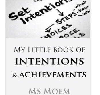 my little book of intentions and achievements