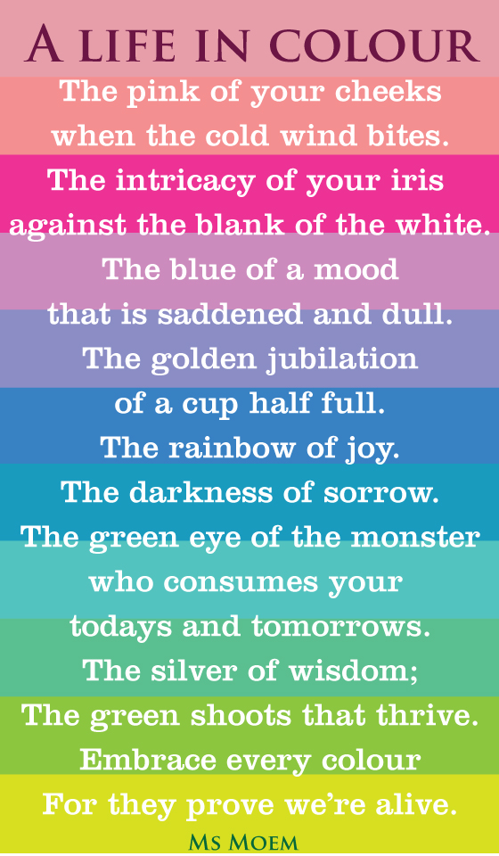 life in colour poem