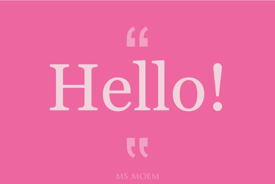 saying hello | reasons to smile