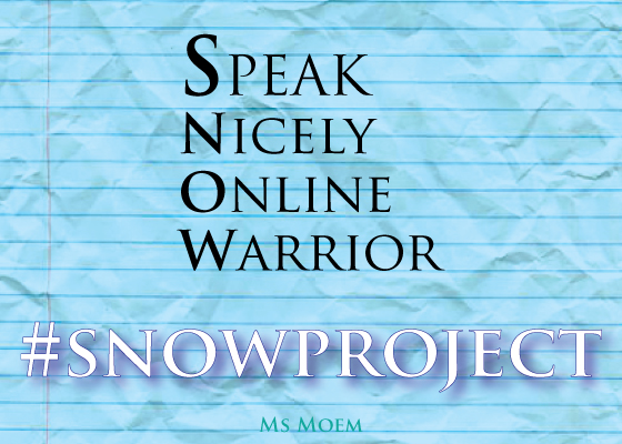 #snowproject - say something nice online