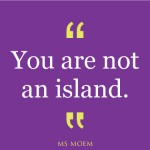 you are not an island | quote