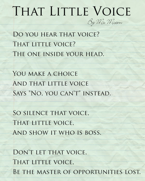 that little voice | motivational poem