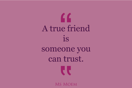 true friends trust each other