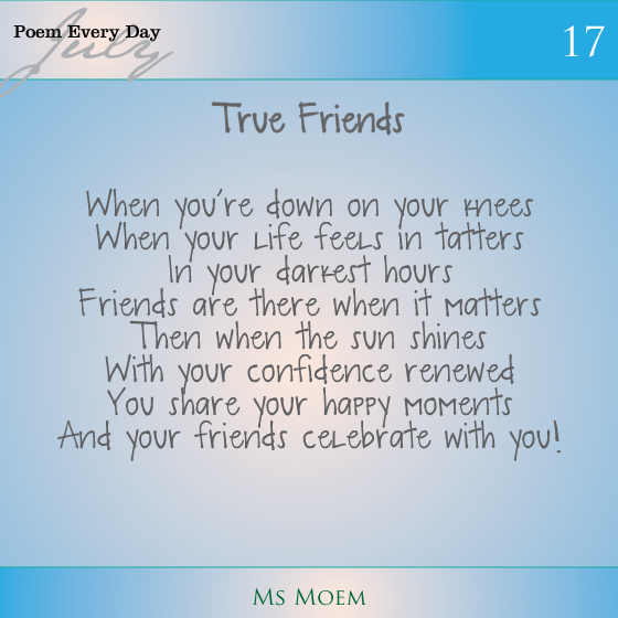 a poem about friends | daily poem project | poem 17 | ms moem