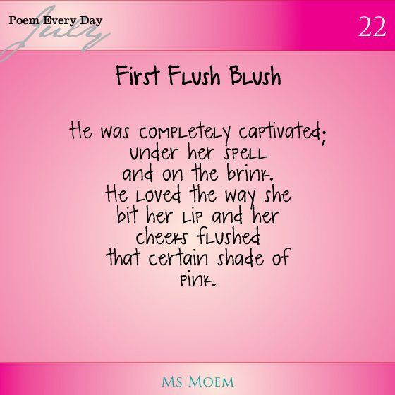 first flush blush | poem prompt was pink | #dailypoemproject day 22 | ms moem