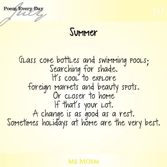 poem about summer | daily poem project poem 10 | ms moem
