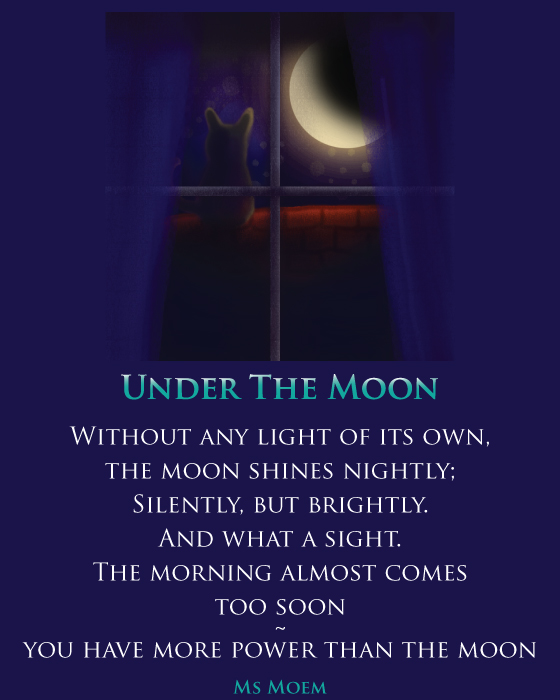 Under The Moon Illustrated Poem