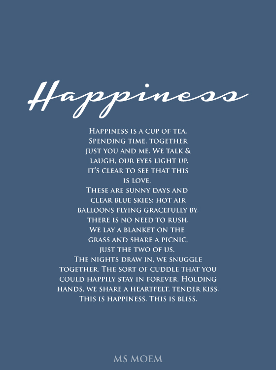 happiness poem by Ms Moem