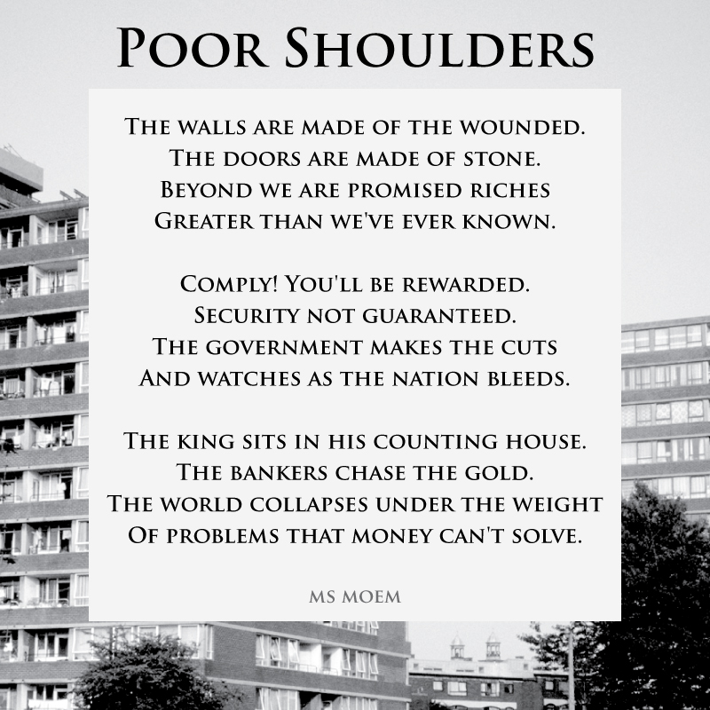 Poor Shoulders - Poem about society by Ms Moem