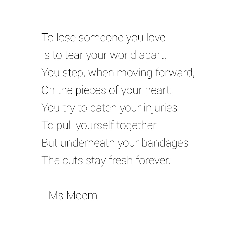 wounded poem by ms moem
