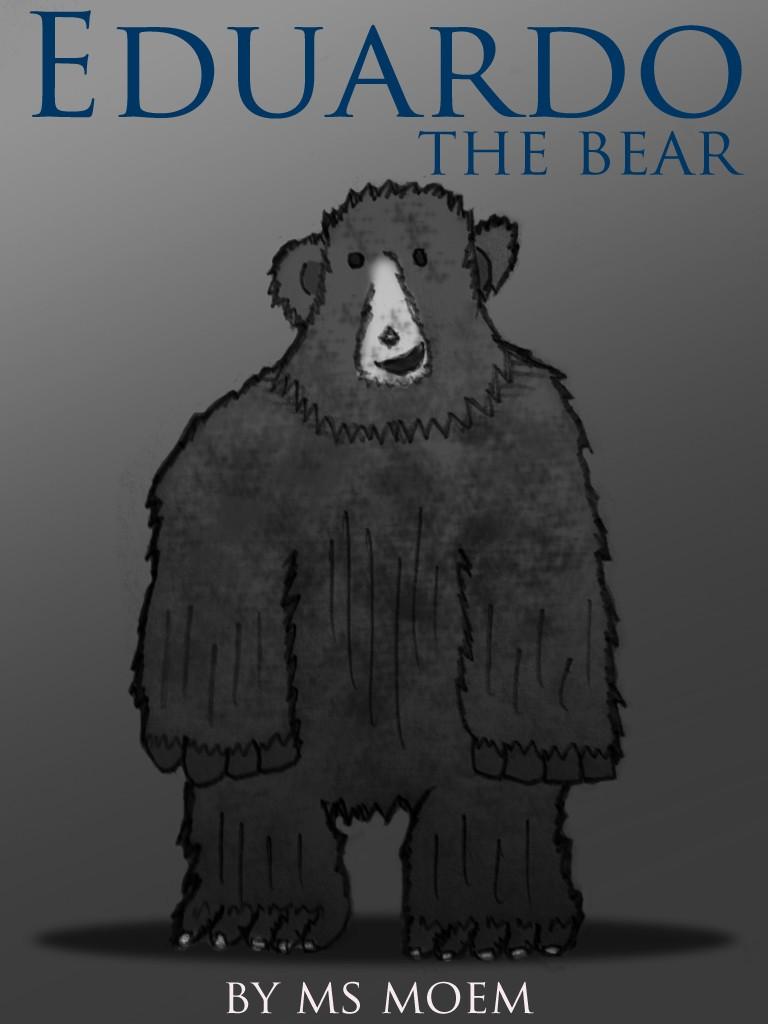 eduardo the bear children's book illustration by ms moem