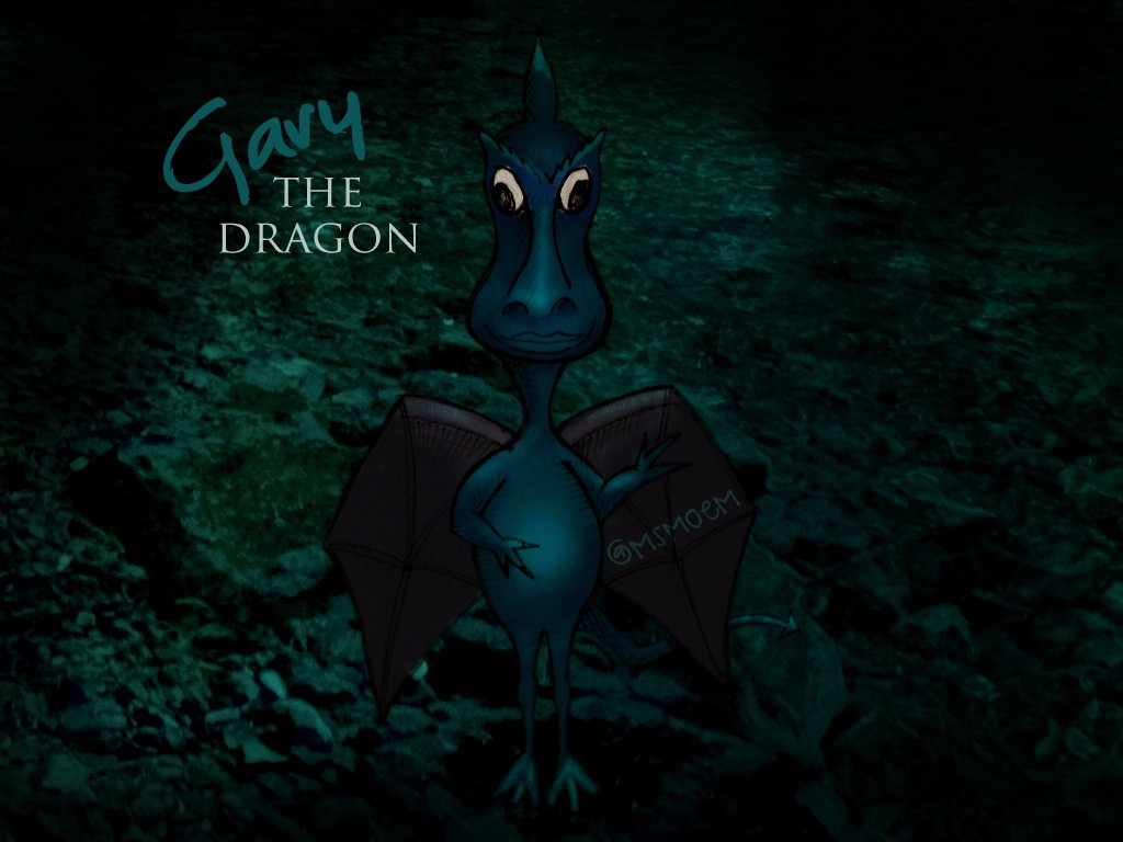 gary the dragon by ms moem- illustration