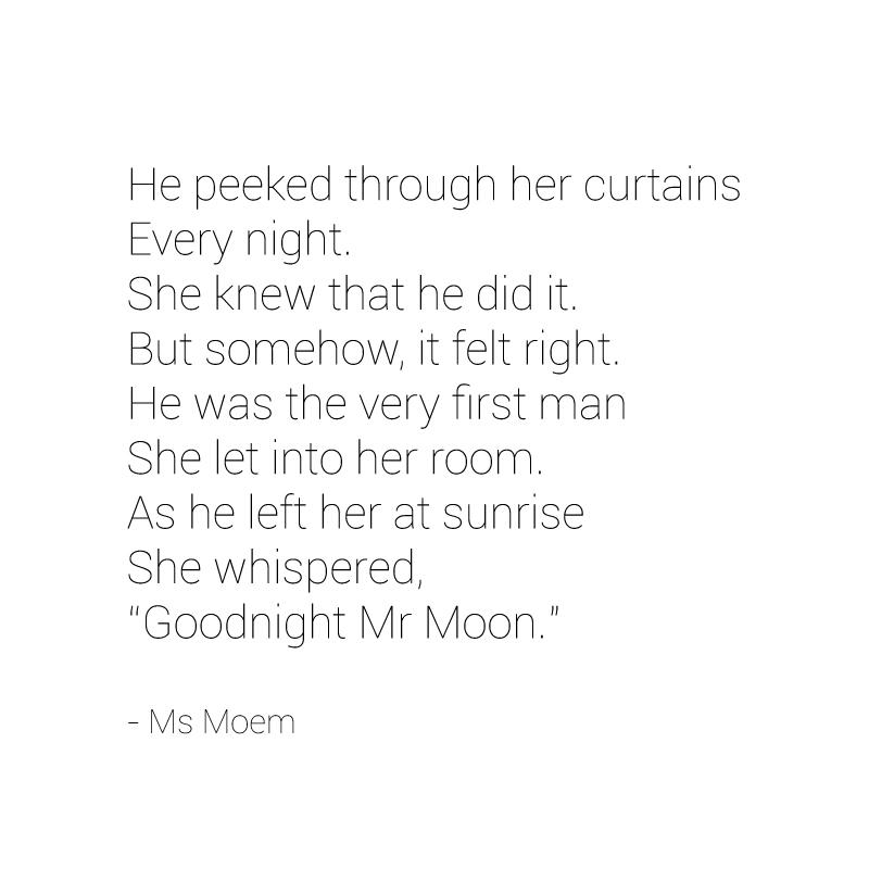 mr moon poem by ms moem