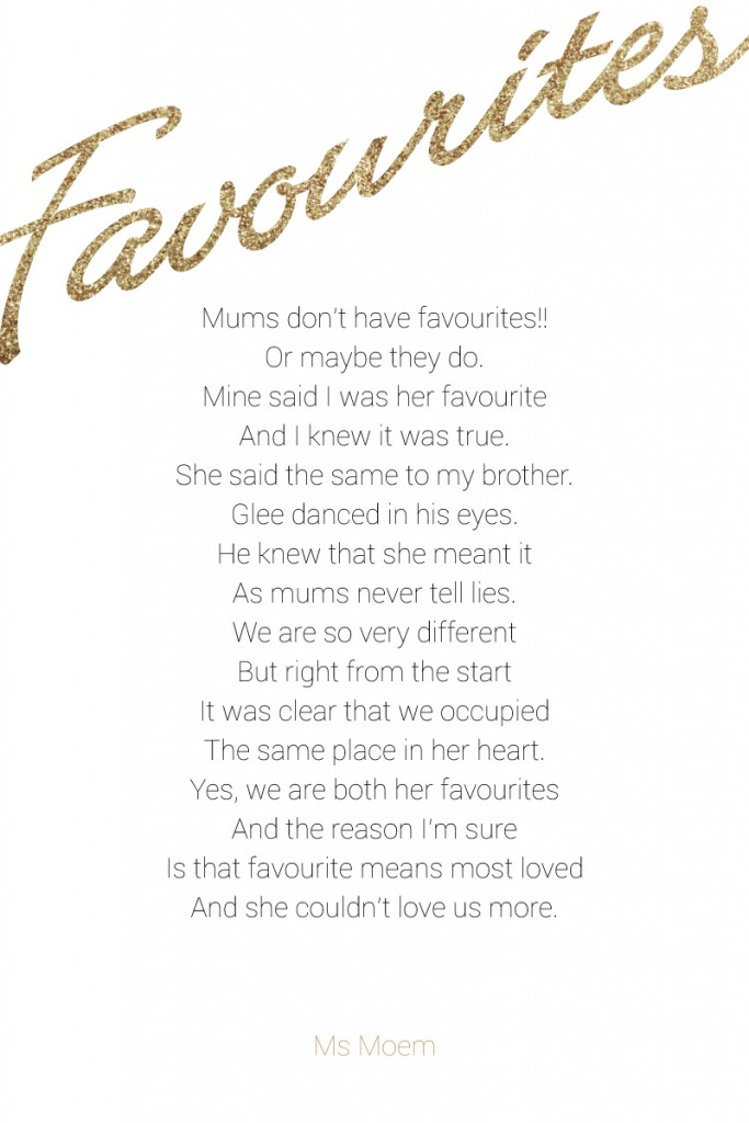 mothers day poem - favourites by ms moem