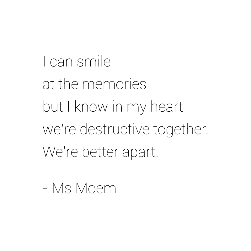 destructive love poem by Ms Moem