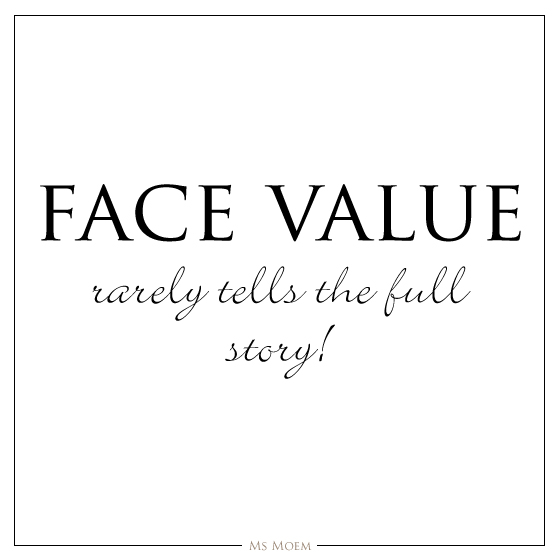 face value quote