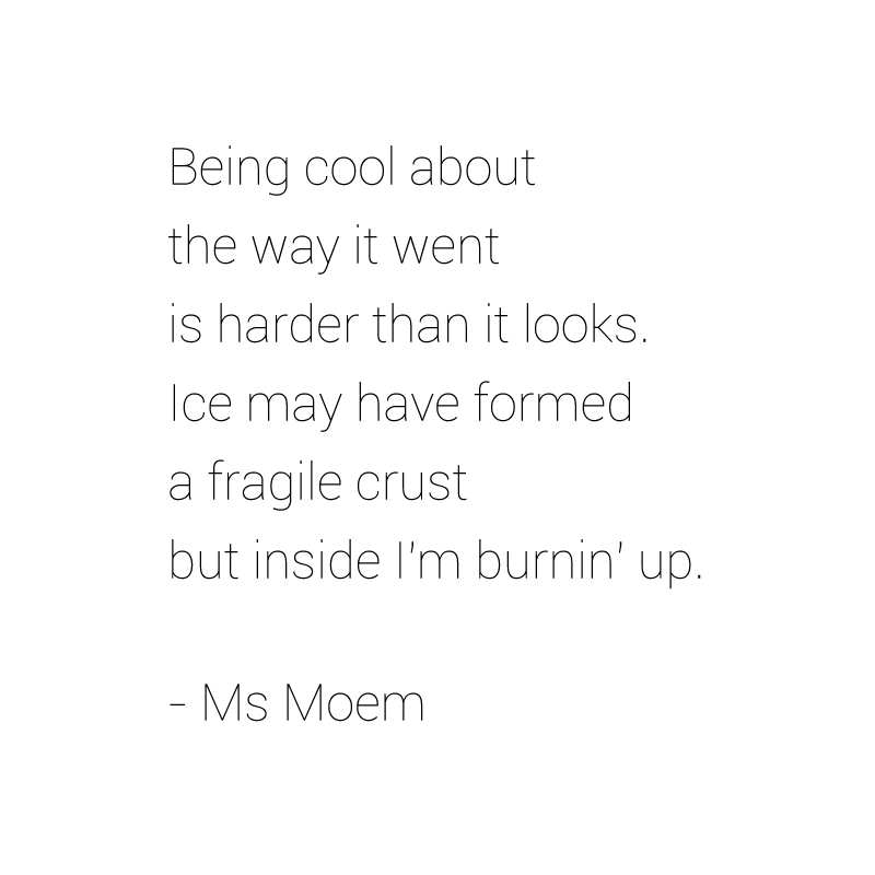 Stayin' cool poem by ms moem