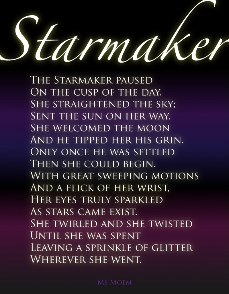 fairytale poem - starmaker by ms moem - national poetry day England