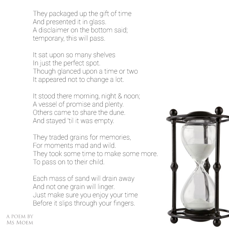 Trading Grains ~ A poem about the passing of time by Ms Moem @MsMoem