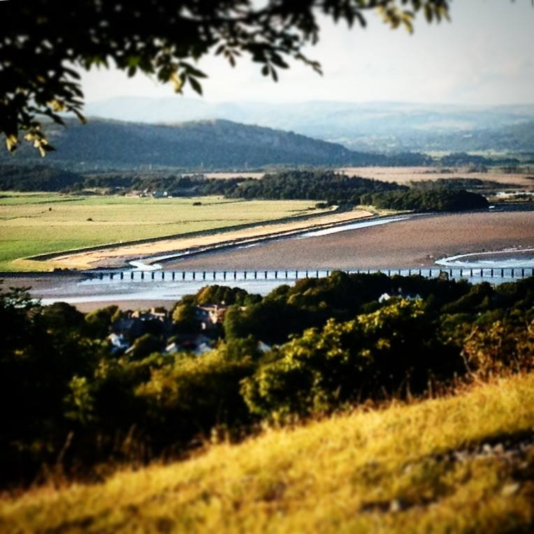 Arnside ~ the view from Arnside Knott overlooking the viaduct - © photograph captured by Ms Moem msmoem.com