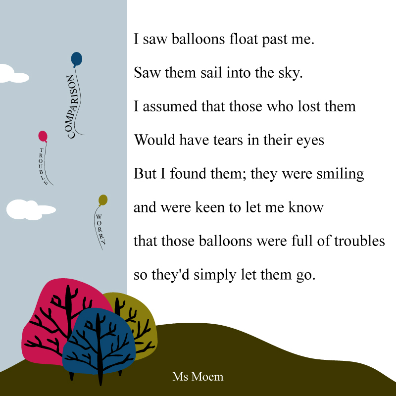 illustrated poem ~ balloons by Ms Moem @msmoem