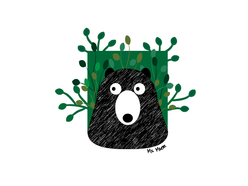 picture book illustration ~ bear by ms moem