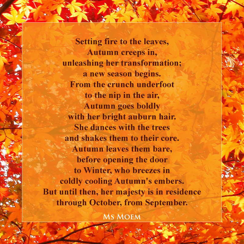 a poem about Autumn, written by Ms Moem @msmoem