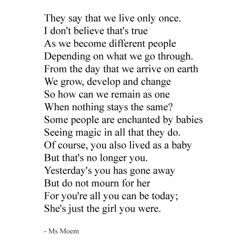 We Live More Than Once ~ a short poem by Ms Moem @msmoem