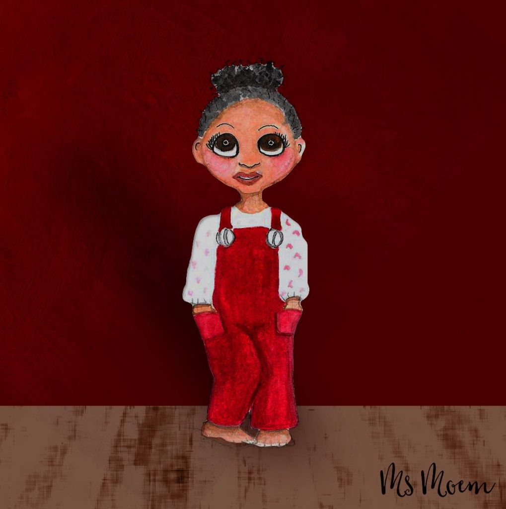 #colour_collective venetian red watercolour girl illustration by Ms Moem