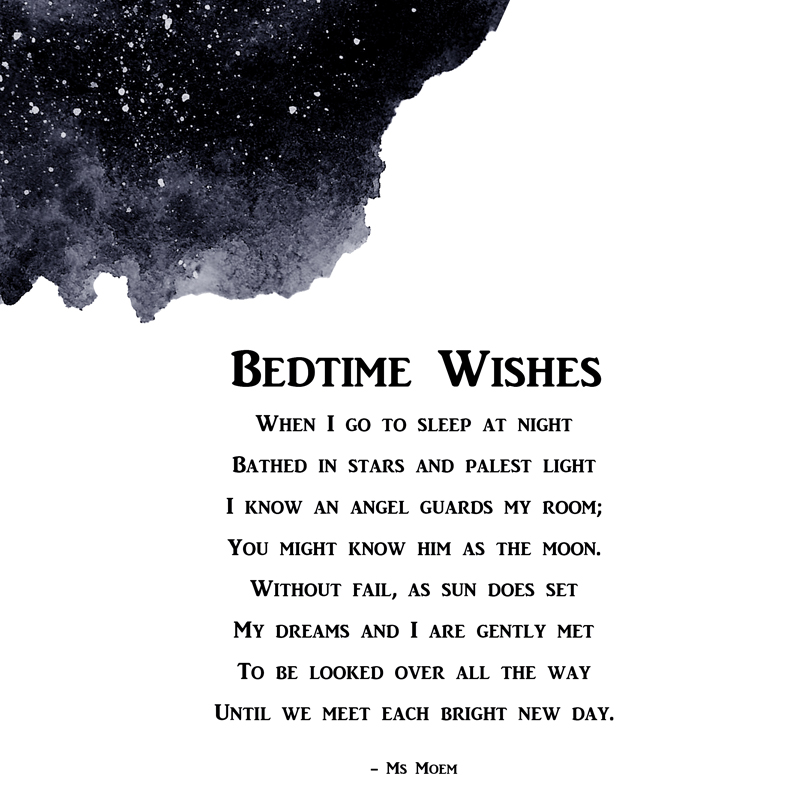 Bedtime Wishes - poem for children by ms moem
