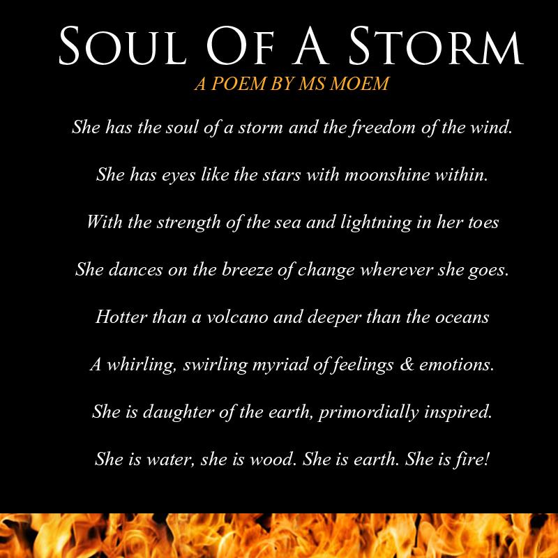 positive affirmation poem by English poet ms moem