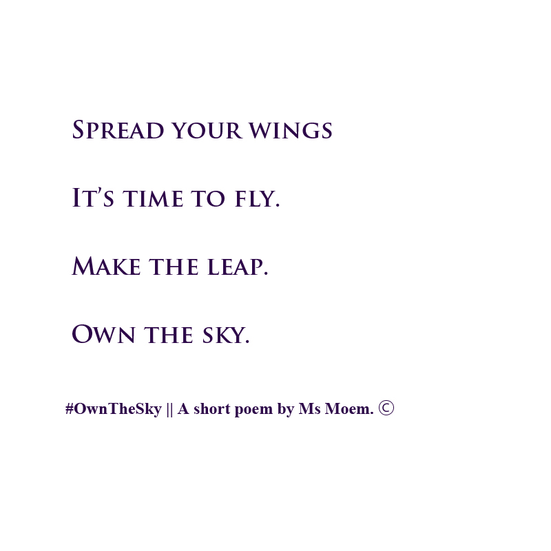 Own The Sky poem by English Poet Ms Moem