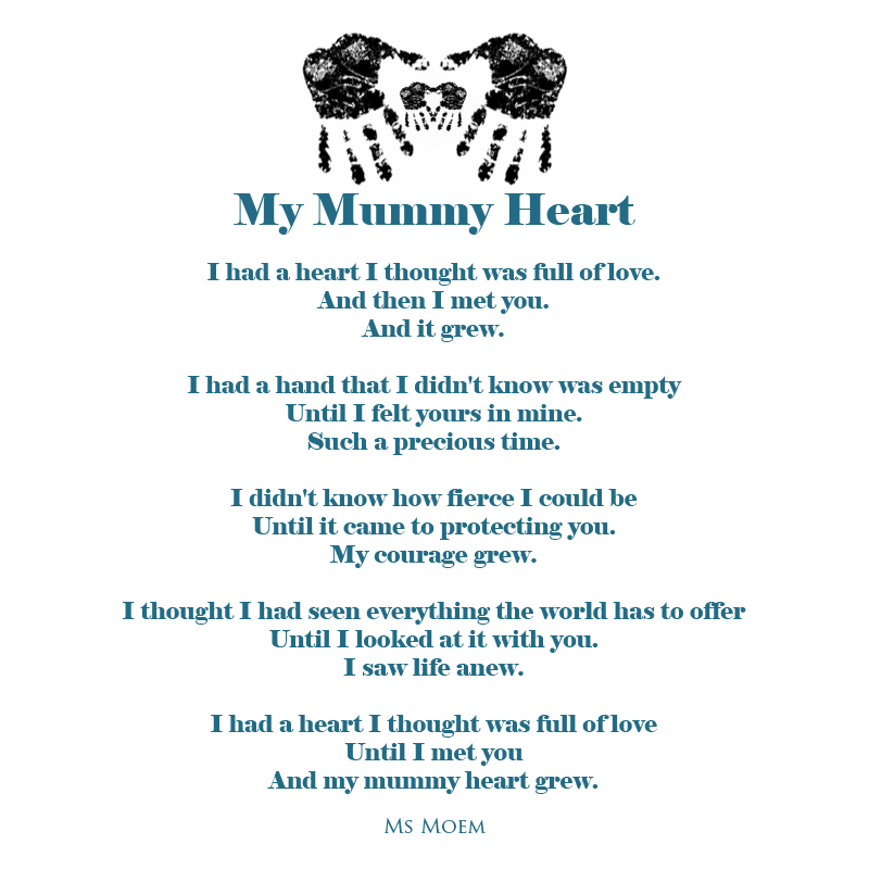 mymummy heart poem by Ms Moem Ⓒ @msmoem http://www.msmoem.com