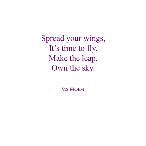 poem about life - own the sky - by English poet, Ms Moem