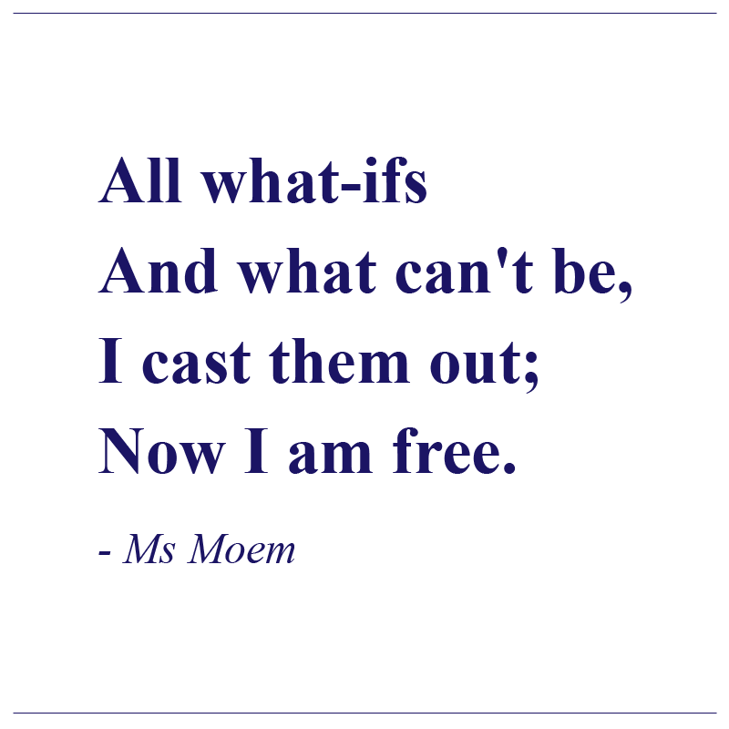 becoming free poem by ms moem, motivational affirmation poem quote.