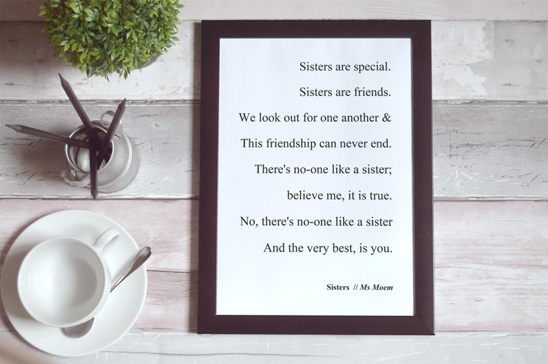 sisters poem by ms moem
