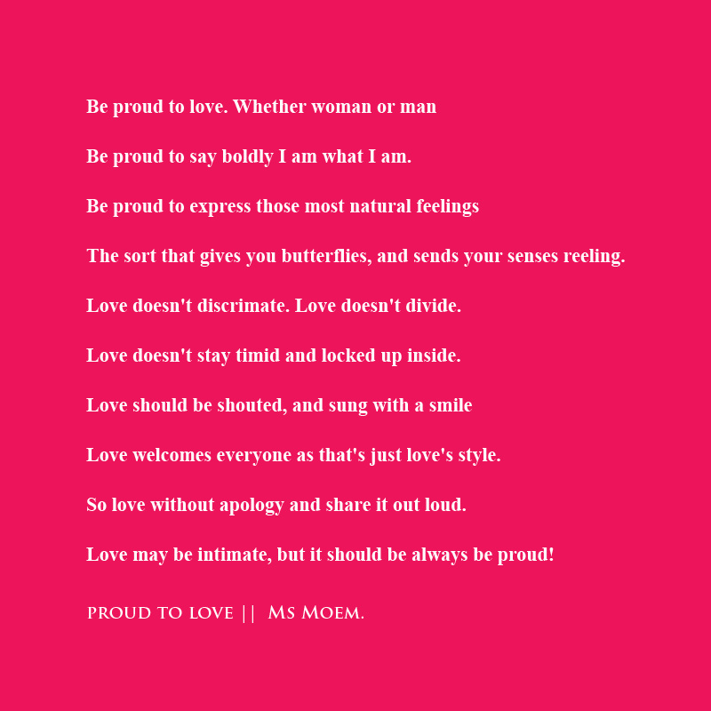 proud love poem